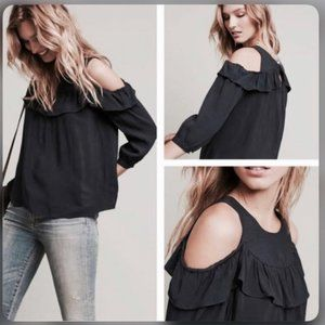 Maeve Top Brearly Cold Shoulder Navy sz 4